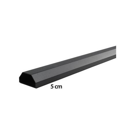 Copricavo in alluminio nero 110cm per LCD/LED