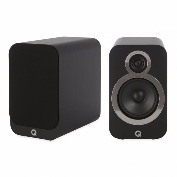 Diffusore da scaffale Q Acoustics 3020i colore nero carbon